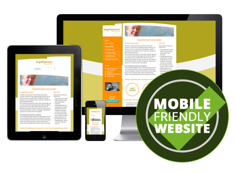 Website geschikt voor smartphone en tablet - mobile friendly